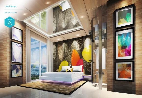 1 Bedroom - Bedroom Interior (Type A)