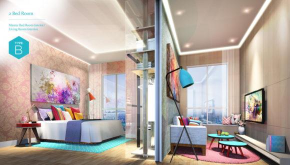 2 Bedroom - Bedroom / Living Room Interior (Type B)