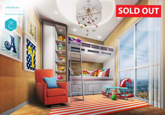 (SOLD OUT) 3 Bedroom - Kid's Bedroom Interior (Type C)