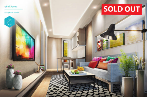 (SOLD OUT) 3 Bedroom - Living Room Interior (Type C)