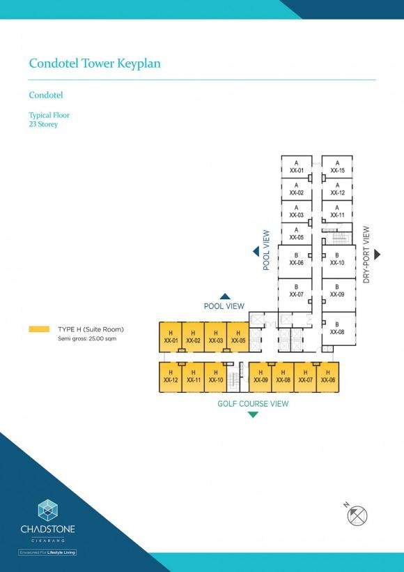 Condotel Keyplan (Dario Tower)