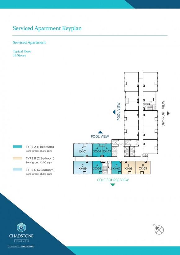 Serviced Apartments Keyplan (Dario Tower)