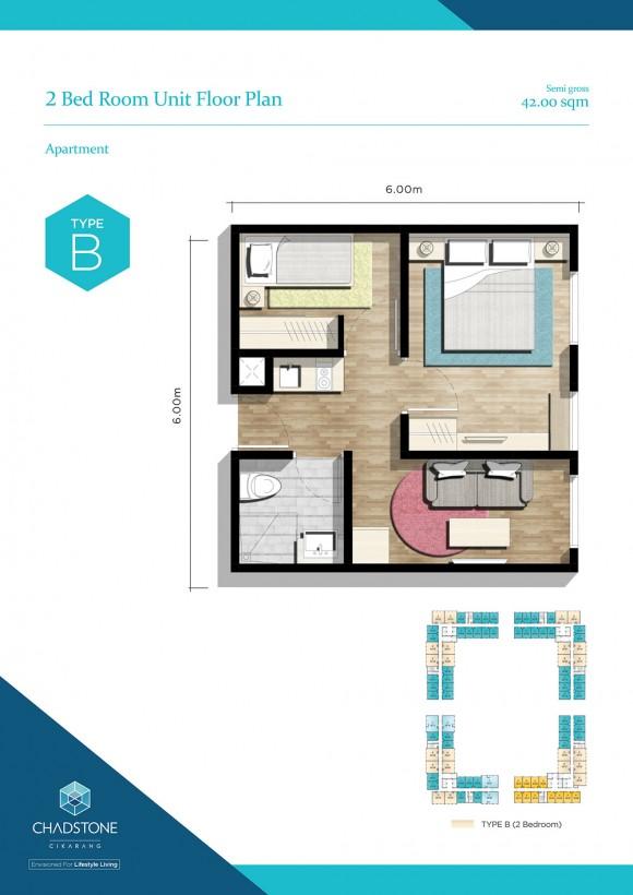 Unit Floor Plan - Type B