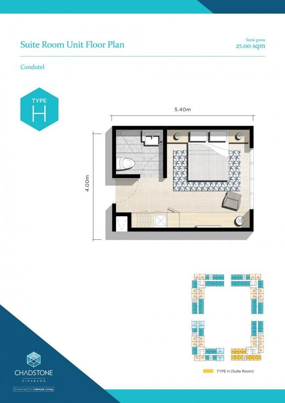 Unit Floor Plan - Type H (Condotel)