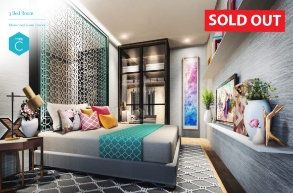 (SOLD OUT) 3 Bedroom - Master Bedroom Interior (Type C)
