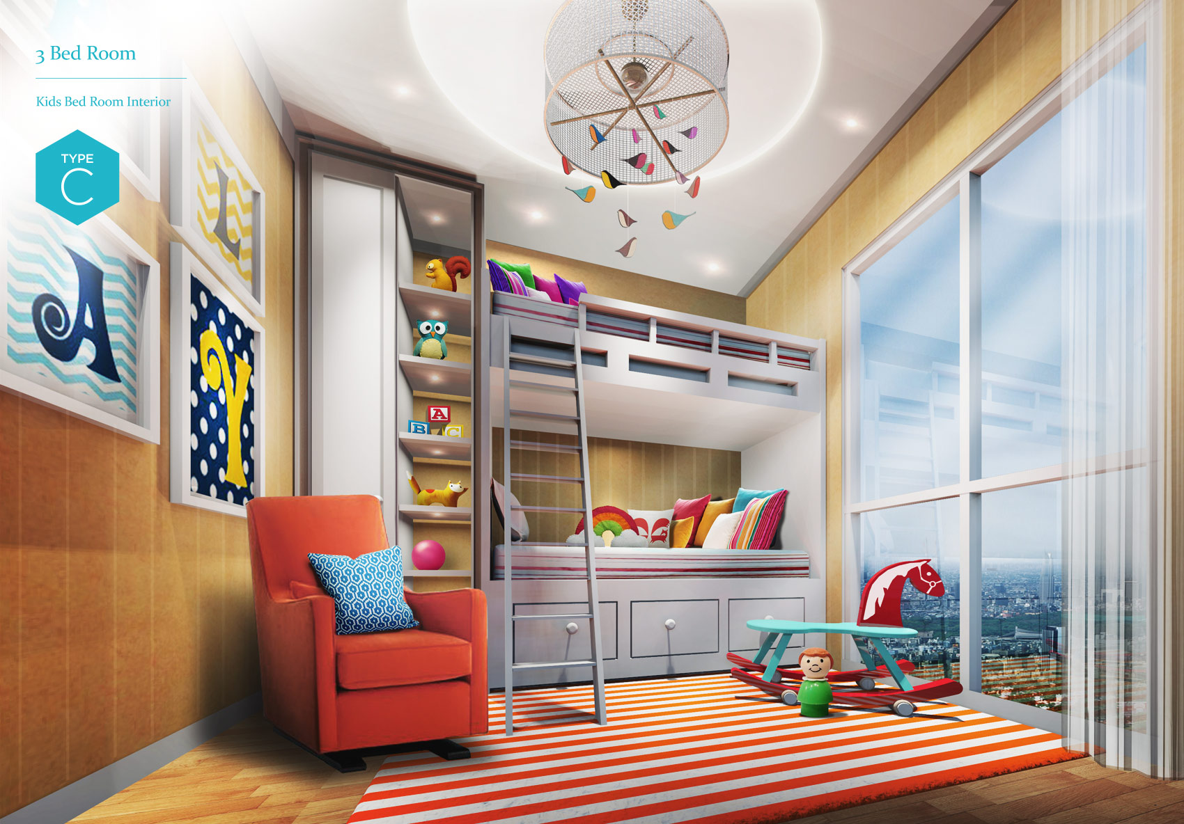 Sold Out 3 Bedroom Kid S Bedroom Interior Type C Pollux Chadstone Superblock